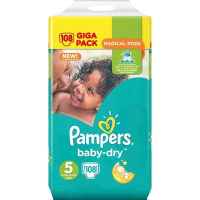Pampers Baby Dry Size 5, 11-23kg, 108 pcs