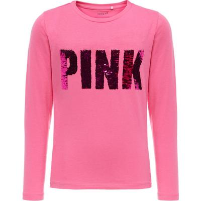 Name It Reversible Sequin Long Sleeved Top - Pink/Fuchsia Purple (13154342)