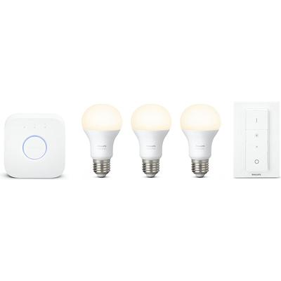 Philips Hue White LED Lamp 9.5W E27 3 Pack Starter Kit