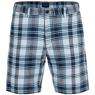 Gant Regular Madras Check Shorts Classic Blue (20006)