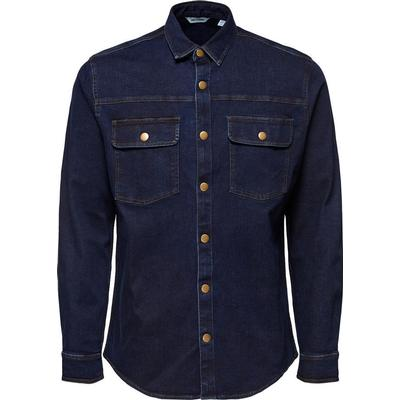Only & Sons Denim Long Sleeved Shirt Blue/Dark Blue Denim (22009193)