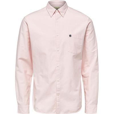 Selected Oxford Long Sleeved Shirt Pink/Coral Blush (16058643)
