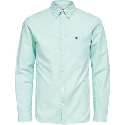 Selected Oxford Long Sleeved Shirt Blue/Ocean Wave (16058643)