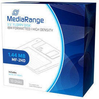 """MediaRange 3.5"""" Floppy Disks 1.44MB MF-2HD (10)"""