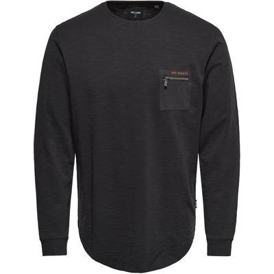 Only & Sons Detailed Sweatshirt Grey/Phantom (22009199)