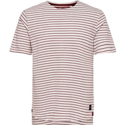 Only & Sons Striped T-shirt White/White (22008493)