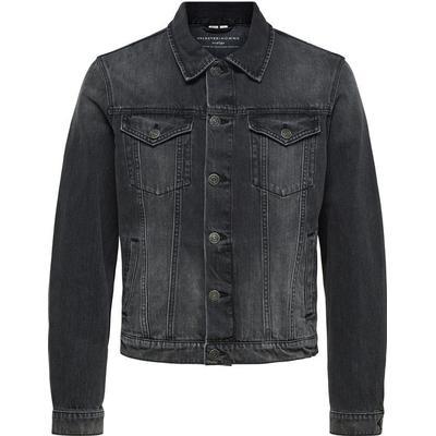 Selected Basic Denim Jacket Grey/Grey (16061988)