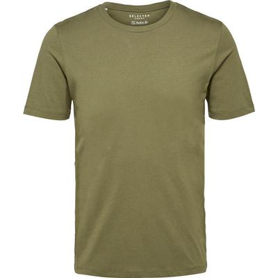 Selected O-Neck T-shirt Green/Dusty Olive (16057141)