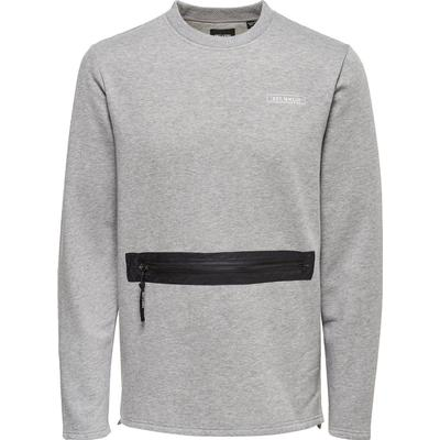 Only & Sons Detailed Sweatshirt Grey/Light Grey Melange (22008091)