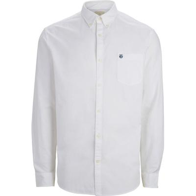 Selected Oxford Long Sleeved Shirt White/White (16040493)