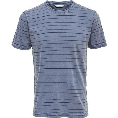 Only & Sons Slim Fit T-shirt Blue/Light Blue (22008574)