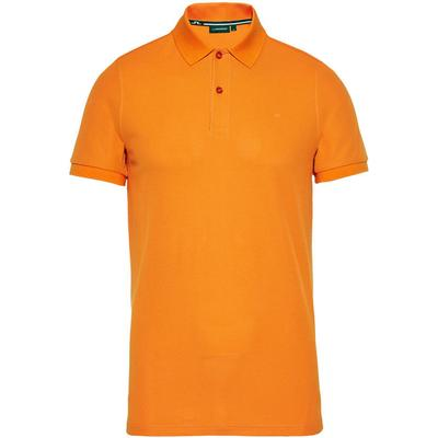 J. Lindeberg Troy Clean Polo Shirt Orange/Ecuberance (50041414)