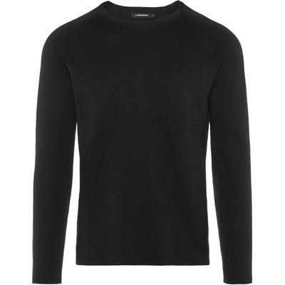 J. Lindeberg Serge R-Neck Full Milano Sweatshirt Black/Black (50041513)