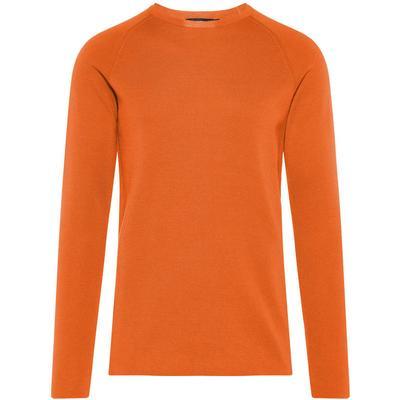 J. Lindeberg Serge R-Neck Full Milano Sweatshirt Brown/Glazed Ginger (50041513)