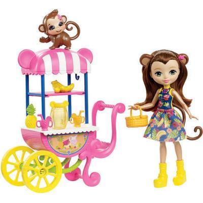 Mattel Enchantimals Fruit Cart Doll Set
