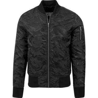 Urban Classics Tonal Camo Bomber Jacket Black (TB1621)