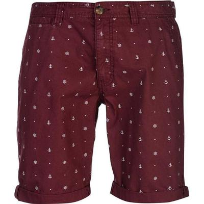 SoulCal Patterned Chino Shorts Burgundy (47818009)