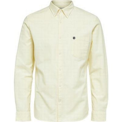 Selected Oxford Long Sleeved Shirt White/Double Cream (16058643)