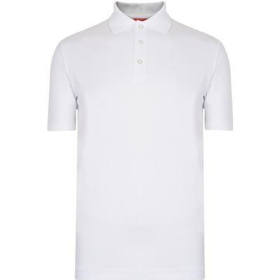 Hugo Boss Darelli Logo-Print Dropped-Hem Polo Shirt White (50385509)