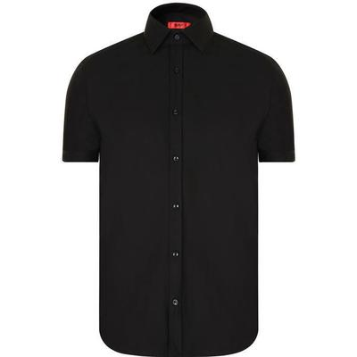 Hugo Boss Jennio Slim-Fit Short-Sleeved Shirt Black (50309303)