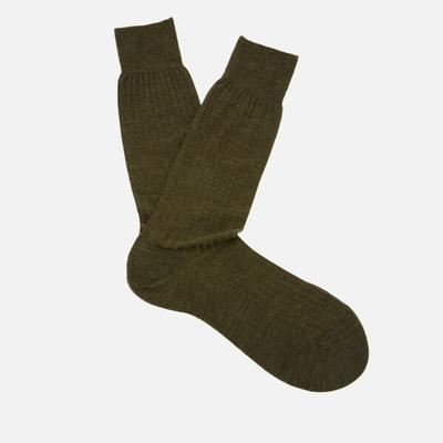 Pantherella Labernum Socks Dk Olive Mix (5796)