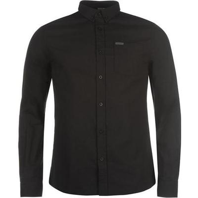 Firetrap Basic Oxford Shirt Black (55591203)