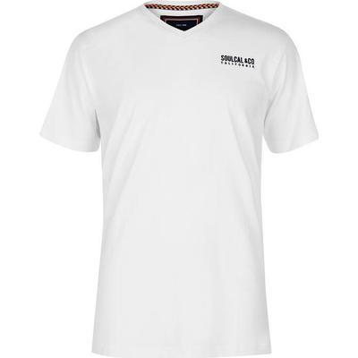 SoulCal Small Logo V Neck T-shirt White (68200001)