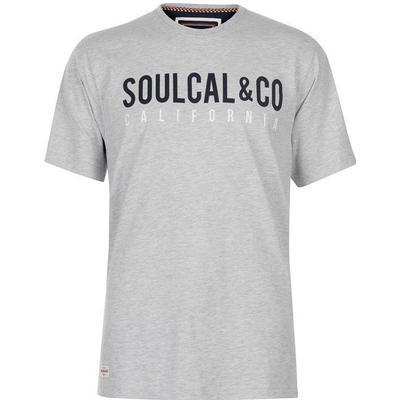 SoulCal Large Logo T-shirt Grey Marl (59904525)