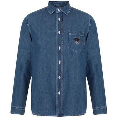 Kenzo Denim Tiger Shirt Navy Blue (F855CH6002FG.76)