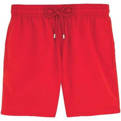 Vilebrequin Moorea Solid Swim Shorts Poppy Red (WB-MOOP701P-HOM-201)