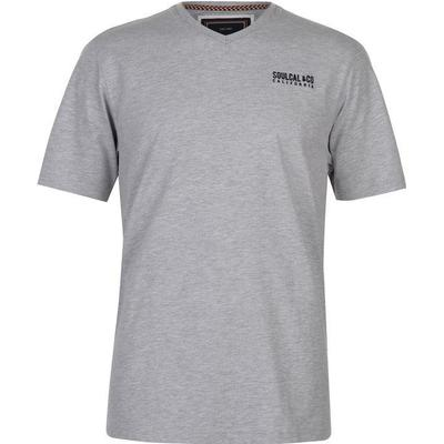 SoulCal Small Logo V Neck T-shirt Grey Marl (68200025)