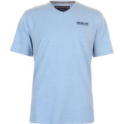 SoulCal Small Logo V Neck T-shirt Sky Marl (68200093)