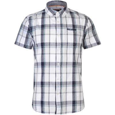 SoulCal Short Sleeve Check Shirt Navy/White/Sky (55722393)