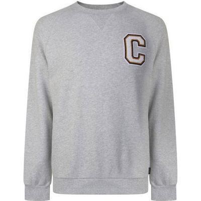 Calvin Klein Logo Badge Sweatshirt Light Grey Heather (K10K101995)