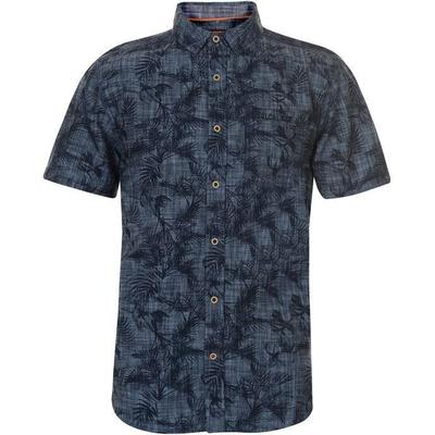 SoulCal Printed Short Sleeve Shirt Mid Blue Floral (55725491)