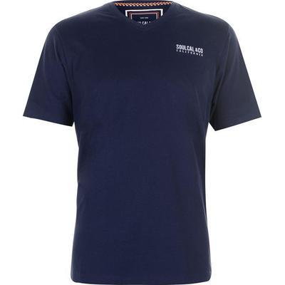 SoulCal Small Logo V Neck T-shirt Navy (68200022)