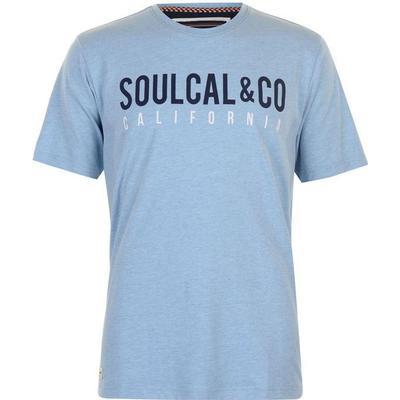 SoulCal Large Logo T-shirt Sky Marl (59904593)