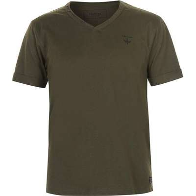 Firetrap Striding V Neck T-shirt Khaki (68402990)