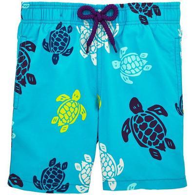 Vilebrequin Moorea Multicolor Turtles Swim Shorts Azzure (WB-MOO8037E-HOM-301)