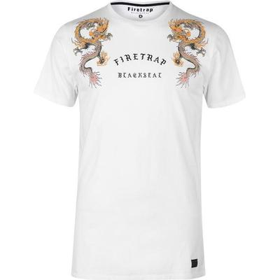 Firetrap Embroided T-shirt White (59094401)