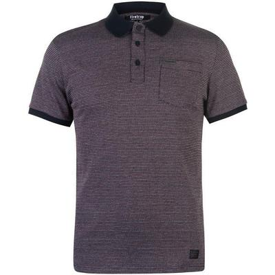 Firetrap Tipped Polo Shirt Navy/Red (54862655)