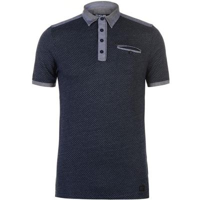Firetrap Jacquard Polo Shirt Navy (54802922)