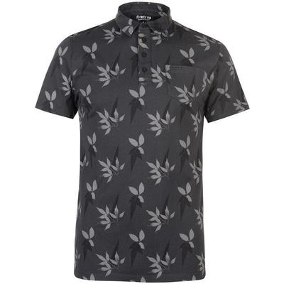 Firetrap Floral Polo Shirt Navy/Grey (54862841)