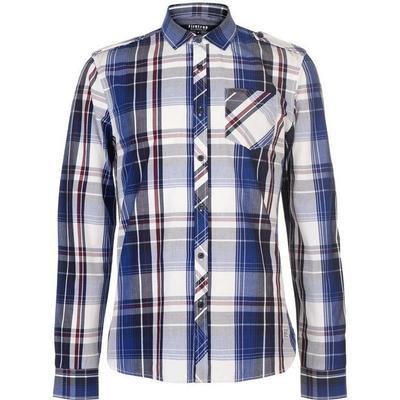Firetrap Blackseal Lightweight Checked Shirt Blue/Burg (55828660)