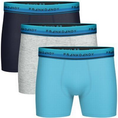 Frank Dandy Solid Boxer 3-pack Navy/Grey/Light Blue