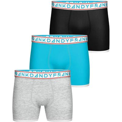 Frank Dandy St Paul Bamboo Boxer 3-pack Grey/Light Blue/Black