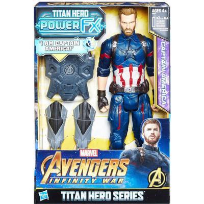 Hasbro Marvel Avengers Infinity War Titan Hero Power FX Captain America E0607