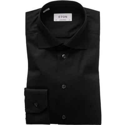 Eton Signature Twill Shirt Black (30007931118)