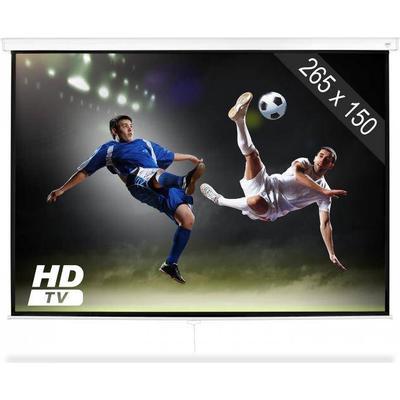"FrontStage SLS-120 Beamer Bioduk 120"" 265 x 150 cm Hemmabio Projektor HDTV"