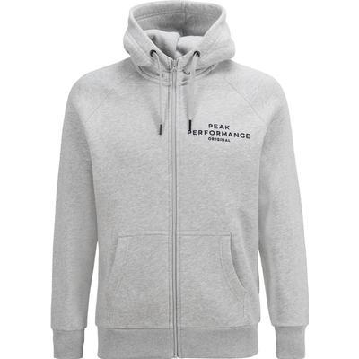 Peak Performance Logo Zip Hood Med Grey Mel/M03 (G54514149Z)